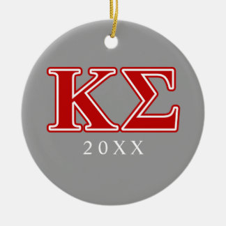 Kappa Sigma Red Letters Christmas Ornament