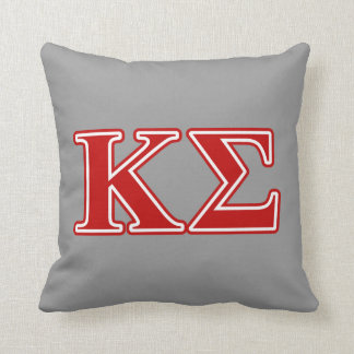 Kappa Sigma Red Letters Cushion