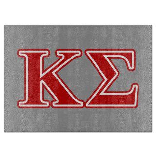 Kappa Sigma Red Letters Cutting Board