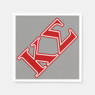 Kappa Sigma Red Letters Disposable Napkin