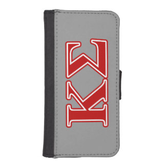 Kappa Sigma Red Letters iPhone SE/5/5s Wallet Case