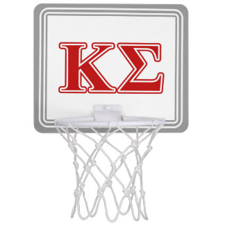 Kappa Sigma Red Letters Mini Basketball Hoop