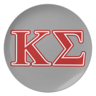 Kappa Sigma Red Letters Plate