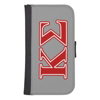 Kappa Sigma Red Letters Samsung S4 Wallet Case