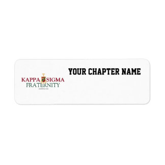 Kappa Sigma Return Address Label