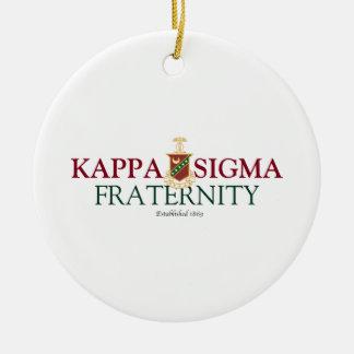 Kappa Sigma Round Ceramic Decoration