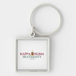 Kappa Sigma Silver-Colored Square Key Ring