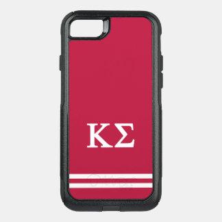 Kappa Sigma   Sport Stripe OtterBox Commuter iPhone 8/7 Case