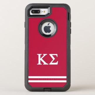 Kappa Sigma | Sport Stripe OtterBox Defender iPhone 8 Plus/7 Plus Case