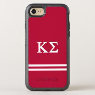 Kappa Sigma   Sport Stripe OtterBox Symmetry iPhone 8/7 Case