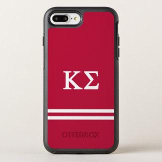 Kappa Sigma | Sport Stripe OtterBox Symmetry iPhone 8 Plus/7 Plus Case