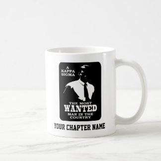 Kappa Sigma - The Most Wanted Basic White Mug