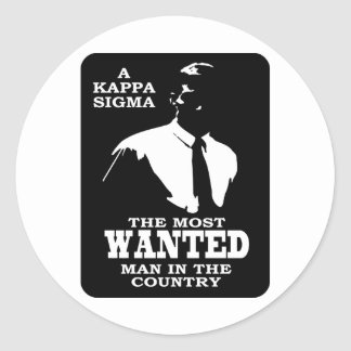 Kappa Sigma - The Most Wanted Classic Round Sticker
