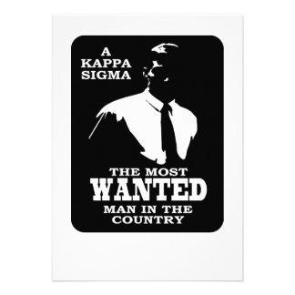 Kappa Sigma - The Most Wanted Personalized Invites