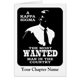Kappa Sigma - The Most Wanted Note Card