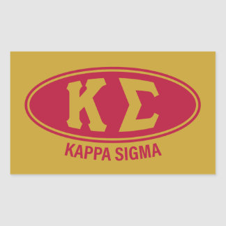 Kappa Sigma | Vintage Rectangular Sticker