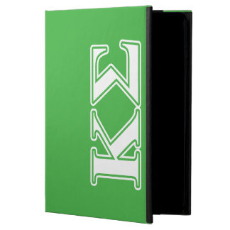 Kappa Sigma White and Green Letters Case For iPad Air
