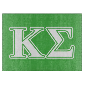 Kappa Sigma White and Green Letters Cutting Board