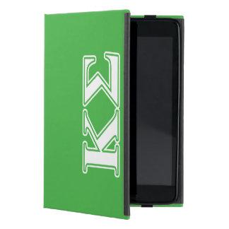 Kappa Sigma White and Green Letters iPad Mini Case