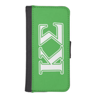 Kappa Sigma White and Green Letters iPhone SE/5/5s Wallet Case