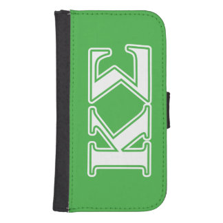 Kappa Sigma White and Green Letters Samsung S4 Wallet Case