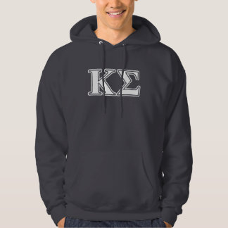 Kappa Sigma White and Red Letters Hoodie