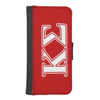 Kappa Sigma White and Red Letters iPhone SE/5/5s Wallet Case
