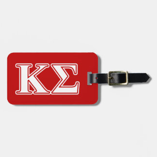 Kappa Sigma White and Red Letters Luggage Tag