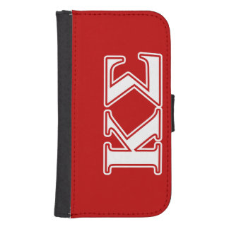 Kappa Sigma White and Red Letters Samsung S4 Wallet Case