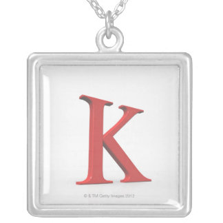 Kappa Silver Plated Necklace