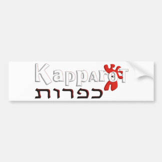 Kapparot Car Bumper Sticker