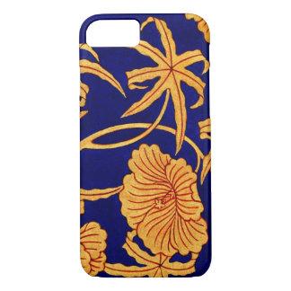 Kara Nishiki Blue Chinese Brocade Print 1825 iPhone 7 Case
