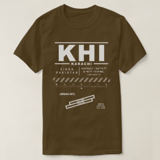 Karachi Jinnah Int'l Airport KHI Tee Shirt: