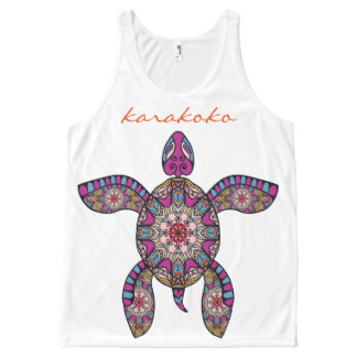 Karakoko Fashion Quartz Ethnic Turtle Pattern Vest