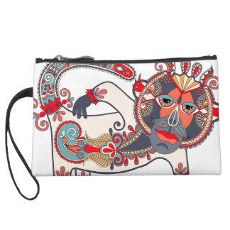 Karakoko Monkey Mini Clutch Purse Hunter Blue