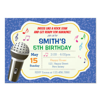 Karaoke Birthday Invitation