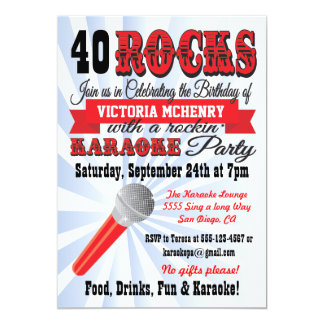 Karaoke Birthday Party Poster Style Invitation