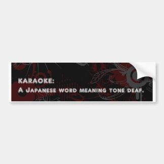 Karaoke Bumper Stickers