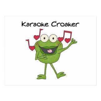 Karaoke Croaker Postcard