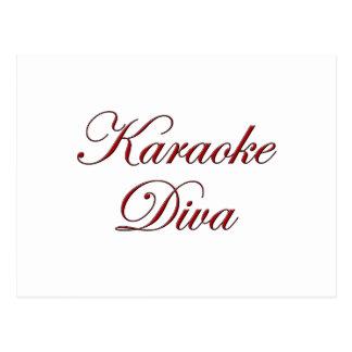 Karaoke Diva Postcard