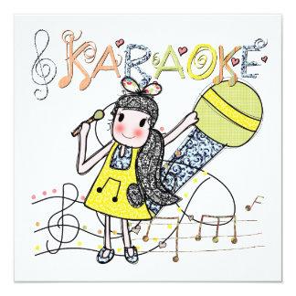 Karaoke Girl Card