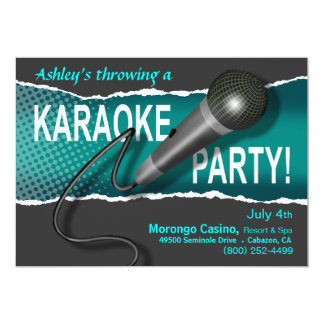 Karaoke Girls' Night Out Party Night Card