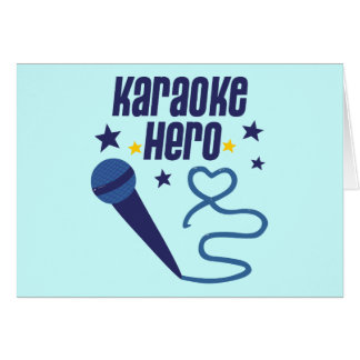 Karaoke Hero Greeting Card
