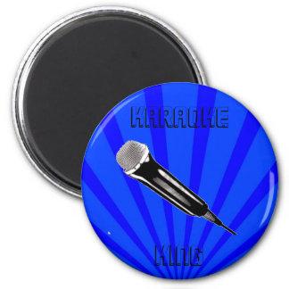 Karaoke King 6 Cm Round Magnet