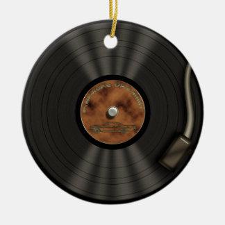 Karaoke King LP Vinyl Record Ornament