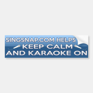 Karaoke On Bumper Sticker