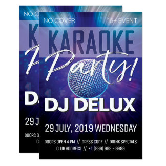 Karaoke Party | DJ | Club Flyer Card