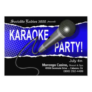 Karaoke Party Night Card