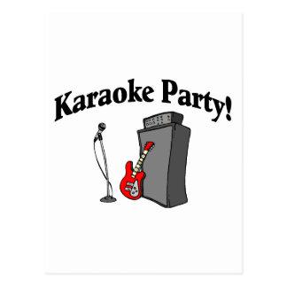 Karaoke Party Postcard