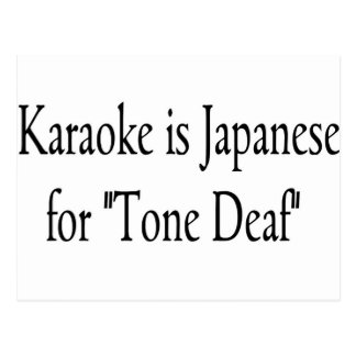 Karaoke Postcard